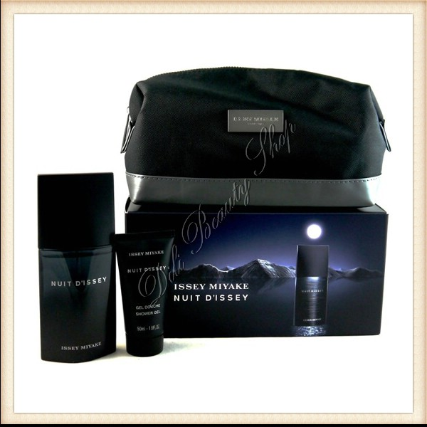 Issey Miyake Set Nuit Dissey Edt 75 Mlsg 50 Mlcosmetic Bag