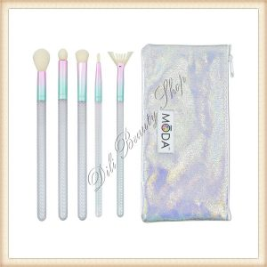 Kit Pensule Make'up Royal & Moda Mythical, 5 pensule + 1 clutch bag 6pc enchanting eye kit